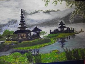 balinese water temple (painting by U)