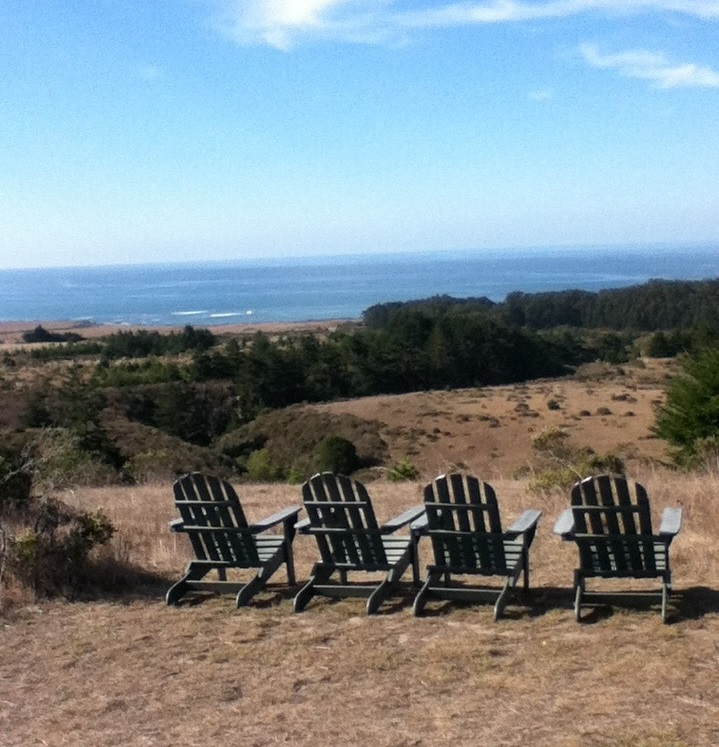 4 chairs looking out to sea