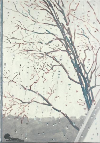 Snow, Tree, Window